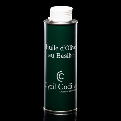 Huile d'Olive au Basilic 250ml - Cyril Codina